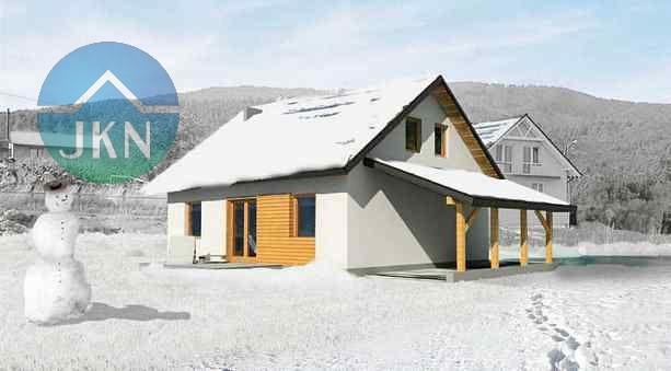 Wizualizacja budynku - zima